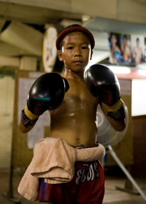 Young Muay Thai fighter