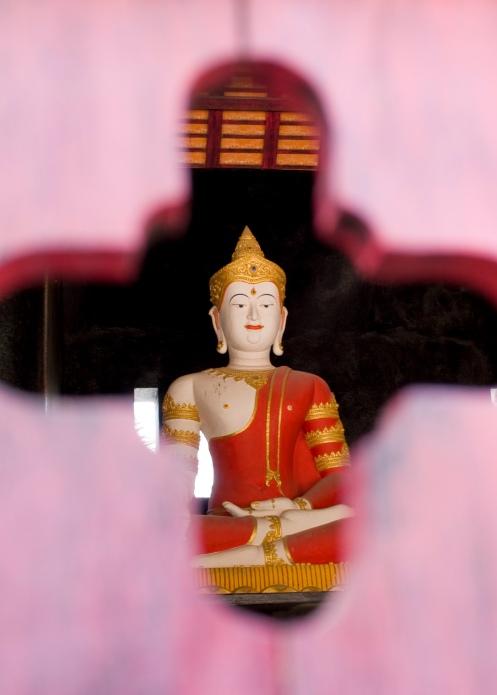 Painted Buddha, Wat Chedi Luang, Chiang Mai