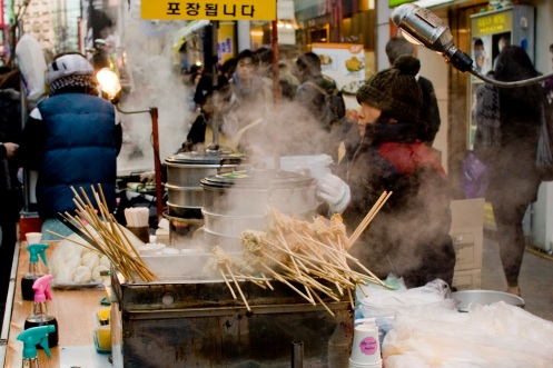 Odeng, great winter street food