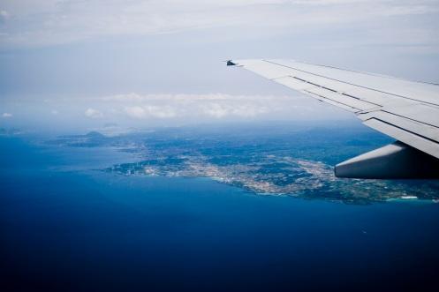 Flying into Jeju City