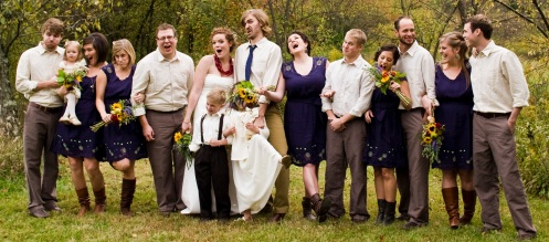 Bridesmaids and groomsmen (photo by Ryan)