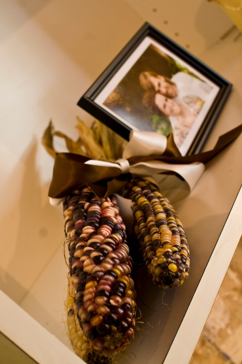 Ben and Jess, Indian corn.